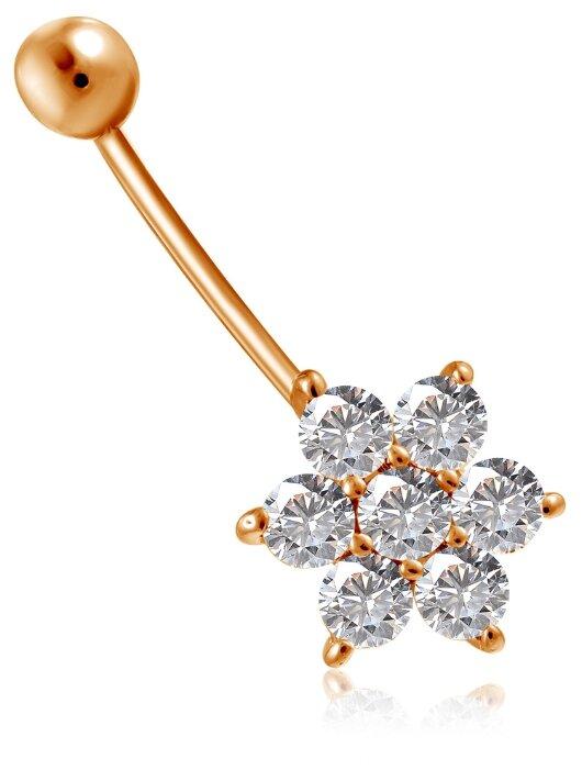 Бронницкий Ювелир Пирсинг из красного золота 16611378000