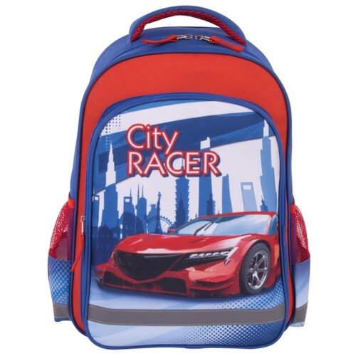 цена на Пифагор Рюкзак City Racer, синий/красный