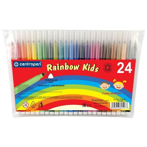 Фото - Centropen Набор фломастеров Rainbow Kids (7550), 24 шт. centropen набор фломастеров rainbow kids 12 шт 7550 12