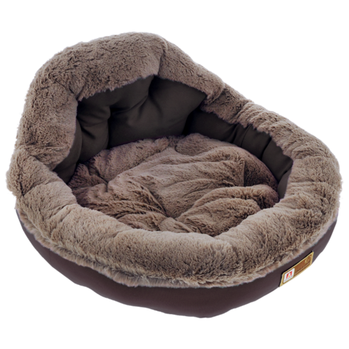 Лежак для собак и кошек Зоогурман Президент 45х45х20 см шоколадный
