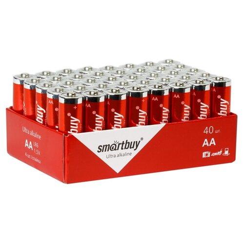 Фото - Батарейка SmartBuy AA LR6 Ultra Alkaline, 40 шт. батарейка smartbuy aa lr6 ultra alkaline 40 шт