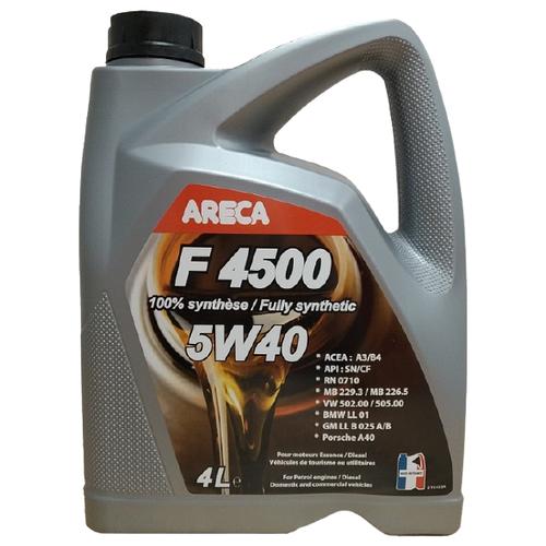 Синтетическое моторное масло Areca F4500 5W40 4 л