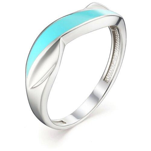 АЛЬКОР Кольцо с эмалью из серебра 01-1096-ЭМ75-00, размер 18 алькор кольцо с эмалью из серебра 01 1096 эм75 00 размер 18