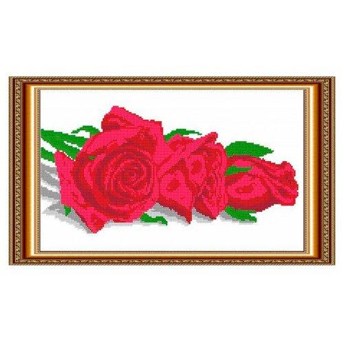 Светлица Набор для вышивания бисером Розочки 38 х 22 см, бисер Чехия (011)