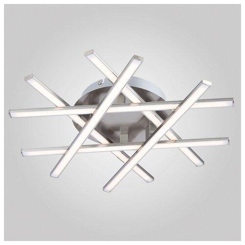 Светильник светодиодный Eurosvet Hi-tech 90021/6 сатин-никель, LED, 27 Вт светильник светодиодный eurosvet range 40005 1 кофе led 54 вт