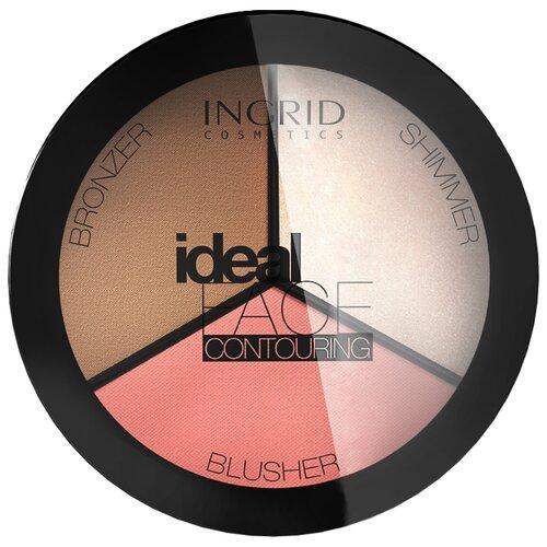 Ingrid Cosmetics Палитра для контурирования лица Ideal Face 3 в 1 розовый/бежевый/кремовый палитра пудры visage cosmetics 6 цветов