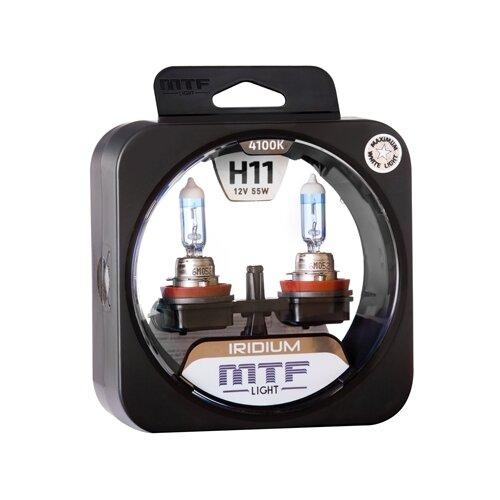 Фото - Лампа автомобильная галогенная MTF Iridium HRD1211 H11 12V 55W 2 шт. лампа автомобильная галогенная mtf titanium htn12b4 hb4 9006 12v 55w 2 шт