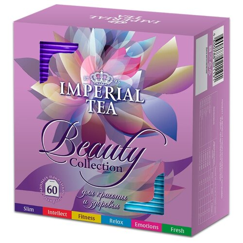 Чай Императорский чай Beauty collection ассорти в пакетиках, 60 шт. чай улун императорский чай collection china milk oolong в пакетиках 100 шт
