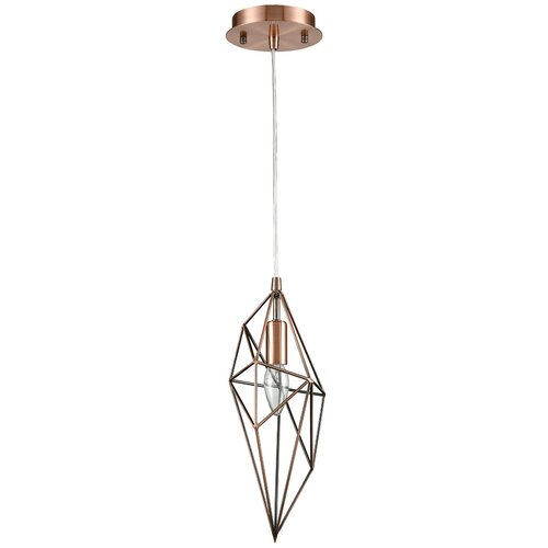 Светильник Vele Luce Tenero VL1544P01, E14, 40 Вт, кол-во ламп: 1 шт., цвет арматуры: медный, цвет плафона: медный недорого