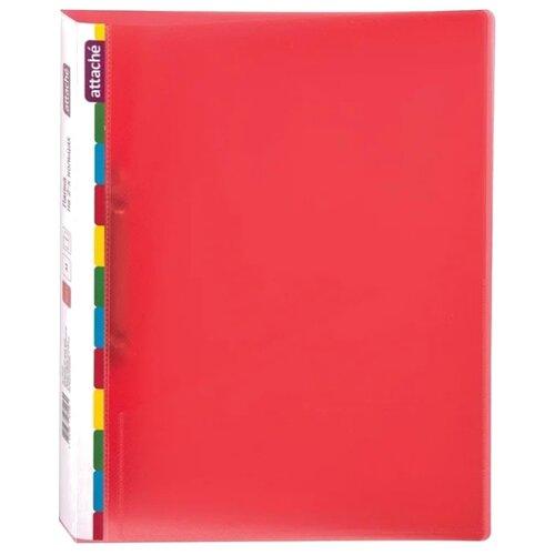 Купить Attache Папка на 2-х кольцах Diagonal A4, пластик, 25 мм красный, Файлы и папки