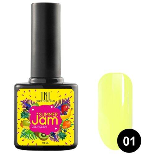Гель-лак для ногтей TNL Professional Summer Jam, 10 мл, 01 светло-желтый