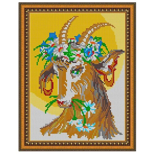 Светлица Набор для вышивания бисером Козочка 2015 19 х 24 см, бисер Чехия (315П)