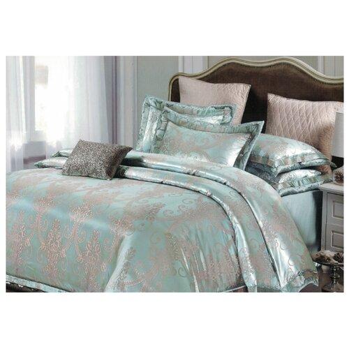 Постельное белье евростандарт Boris PS-19-200/6 полисатин серый/голубойКомплекты<br>