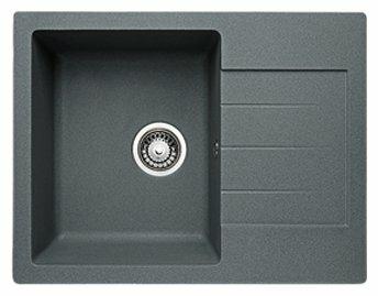 Врезная кухонная мойка Granicom G-016 искусственный мрамор