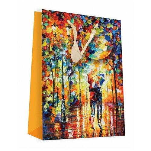 Фото - Пакет подарочный Perfect Craft Двое под зонтом 18 х 24 х 8 см желтый пакет подарочный единорог на пончике а5 16 х 24 х 8 см
