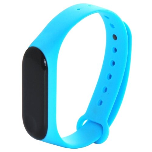 Gurdini Ремешок силиконовый для Xiaomi Mi Band 3 голубой
