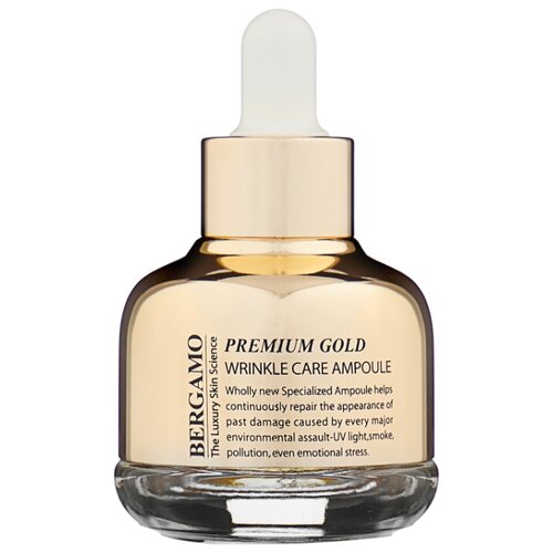 Bergamo Premium Gold Wrinkle Care Ampoule Сыворотка для лица с золотом от морщин, 30 мл цена 2017