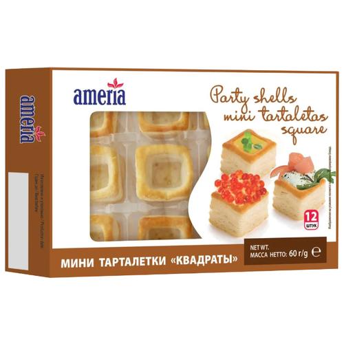 Ameria мини тарталетки Квадраты, (12 шт.) макаронные изделия ameria спагетти 4кг