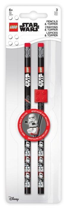 LEGO Набор чернографитных карандашей Star Wars (Звездные войны) 2 шт с ластиком (52214)