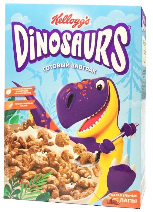 Готовый завтрак Dinosaurs лапы карамельные, коробка