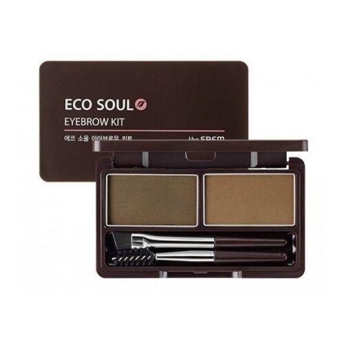 The Saem Eco Soul Eyebrow Kit 01 brown