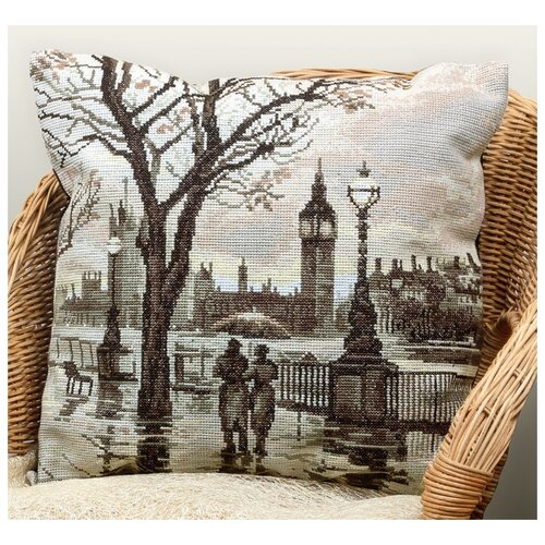 Купить PANNA Набор для вышивания Наволочка Лондонский дождь 42 x 42 см (PD-1606), Наборы для вышивания