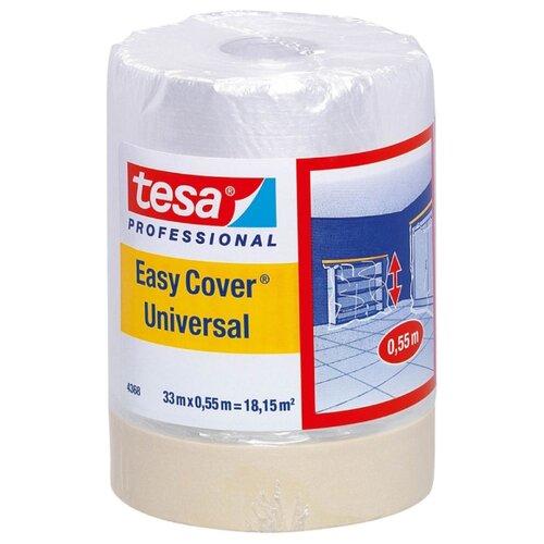 Защитная пленка Tesa с малярной лентой 04368-00012-03, 33 м, бесцветный
