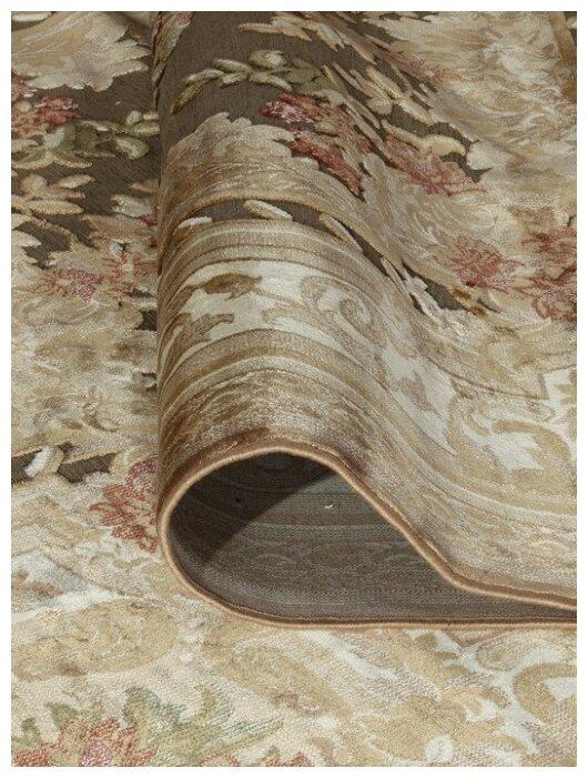 Ragolle Рельефный ковер из вискозы VENEZIA 5095 193872 l brown 1x1.4 м.