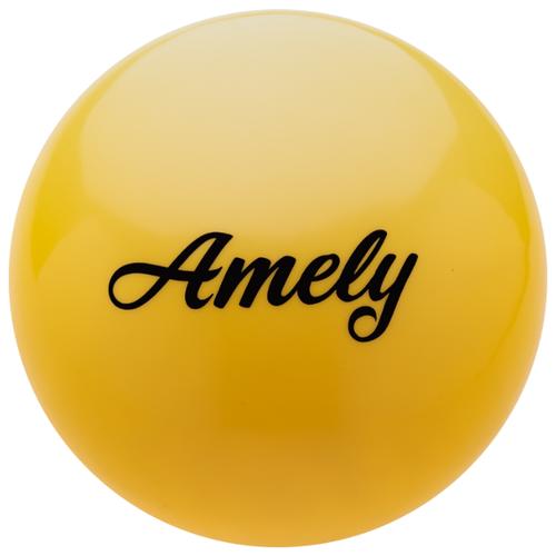 Мяч для художественной гимнастики Amely AGB-101 15 см желтый