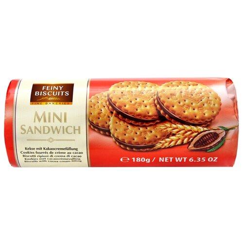 Печенье Feiny Biscuits Mini sandwich с какао-кремовой начинкой, 180 г
