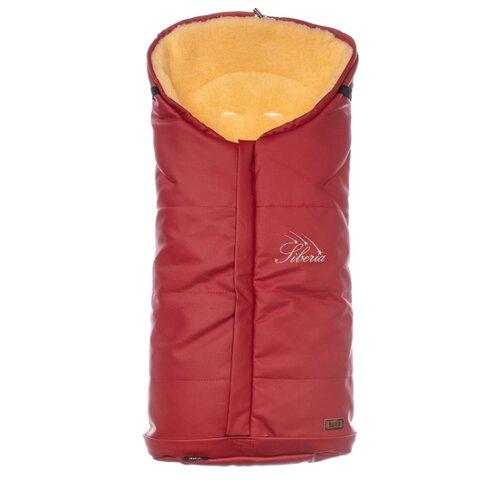 Купить Конверт-мешок Nuovita Siberia Lux Pesco меховой 90 см красный, Конверты и спальные мешки