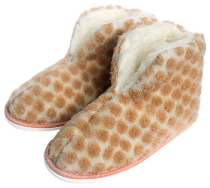 Тапочки высокие ivshoes молочный/бежевый 42-43