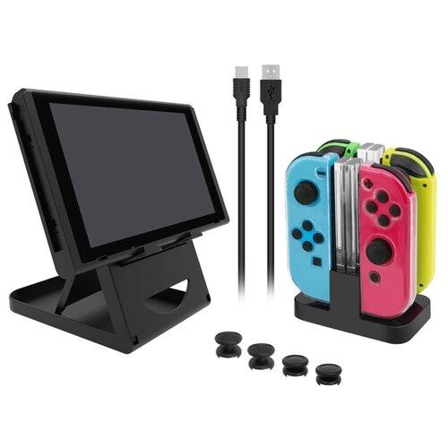 Dobe Комплект аксессуаров Game Pack для консоли Nintendo Switch (TNS-18115) черный набор dobe n switch protective pack tns 1899