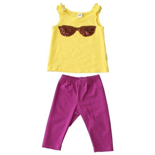 Комплект одежды looklie размер 98-104, лимонный/фиолетовый комплект одежды looklie размер 98 104 изумрудный