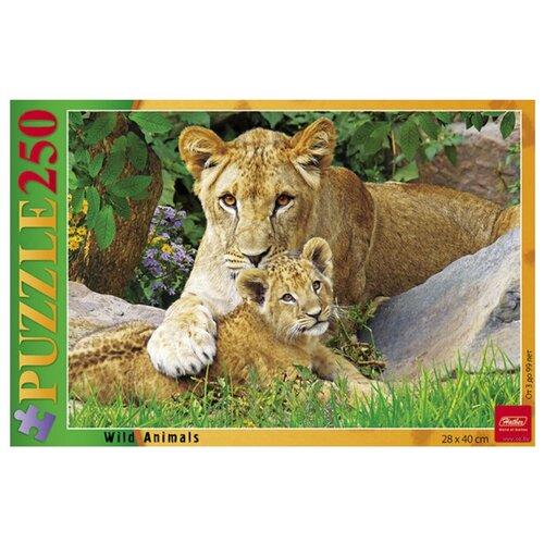 Пазл Hatber Wild animals Мамина любовь (250ПЗ3_14215), 250 дет. пазл hatber букет цветов 250пз3 09919 250 дет