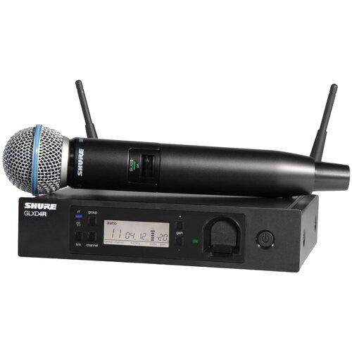 SHURE GLXD24RE/B58 Z2 2.4 GHz Цифровая вокальная радиосистема с капсюлем динамического микрофона BETA 58