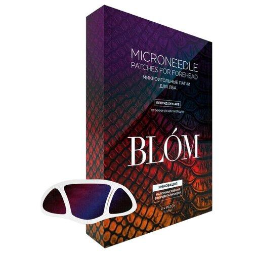 blom микроигольные патчи для глаз увлажнение и разглаживание 4 шт Blom Микроигольные патчи для лба с пептидом Syn-Ake, 4 шт.