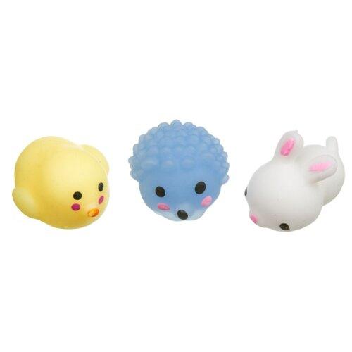 Игрушка-мялка BONDIBON Чудики Няшки - Заяц, ёж, утка белый/желтый/голубой