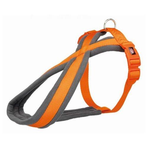 Фото - Шлейка для собак Trixie Premium Touring, размер: L, 60-90 см, 25 мм, оранжевый шлейка для собак trixie premium touring размер s m 40–60 см 20 мм бежевый