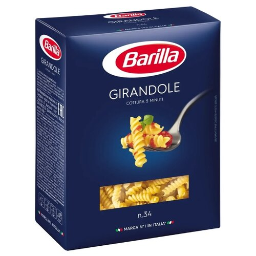 Barilla Макароны Girandole n.34, 450 г соус barilla napoletana 400 г