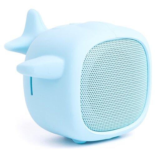Портативная акустика Atom BS-02 plane светло-голубой.