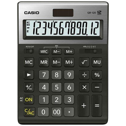 Калькулятор бухгалтерский CASIO GR-120-W черный