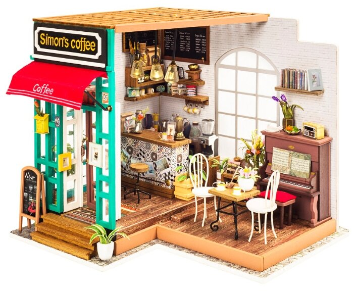 Сборная модель Rolife Румбокс Любимая кофейня (DG109)