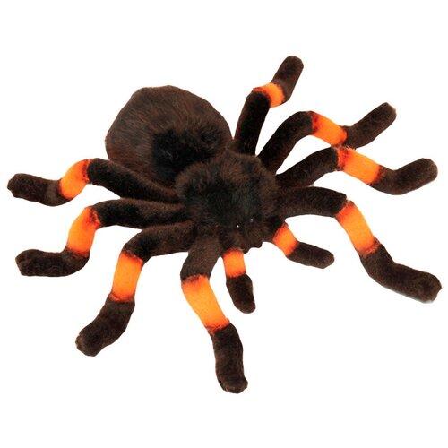 мягкие игрушки hansa тарантул коричневый 19 см Мягкая игрушка Hansa Тарантул чёрно-оранжевый 9 см