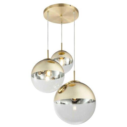 Фото - Светильник подвесной Toplight Glass, TL1203H-03GD, 120W, E27 светильник toplight glass tl1203h 11ch e27 40 вт