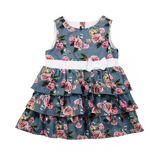 Купить Сарафан Mini Maxi размер 122, синий, Платья и сарафаны