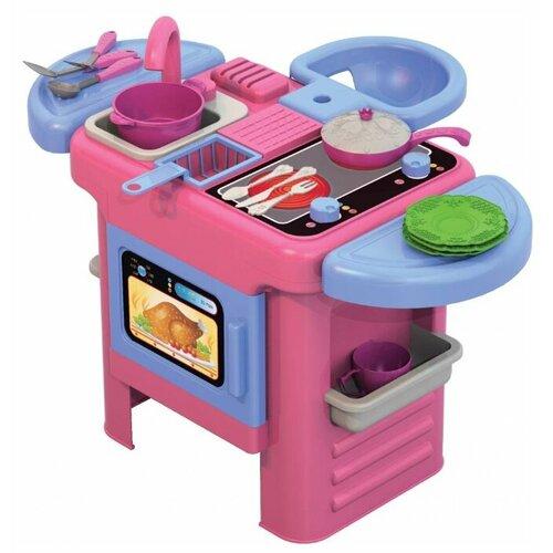 Кухня Нордпласт Волшебная Хозяюшка №3 603 розовый/голубой ролевые игры нордпласт набор волшебная хозяюшка 12 предметов