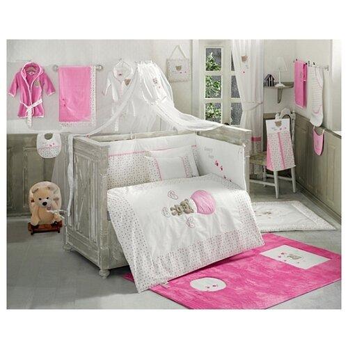 Купить Комплект из 6 предметов серии Cute Bear (Pink), Kidboo, Постельное белье и комплекты