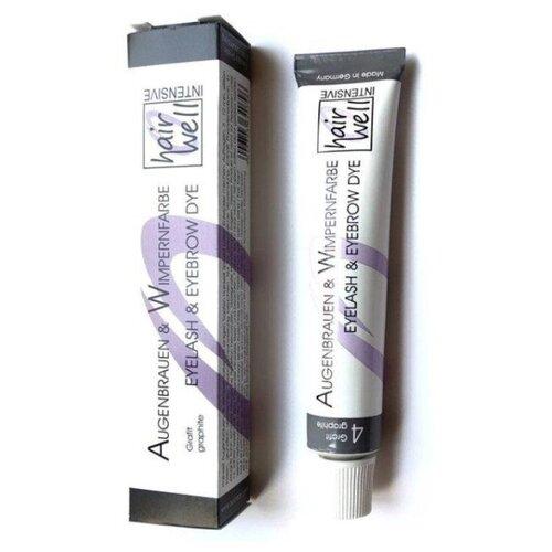 Купить HairWell Краска для бровей и ресниц, 20 мл 4 графит