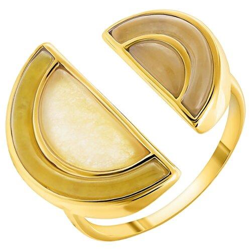 ELEMENT47 Кольцо из серебра 925 пробы с жадеитом SR2245_KO_YG, размер 18.5